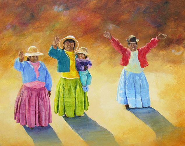Peruvian Farewell by Shirley Sarens