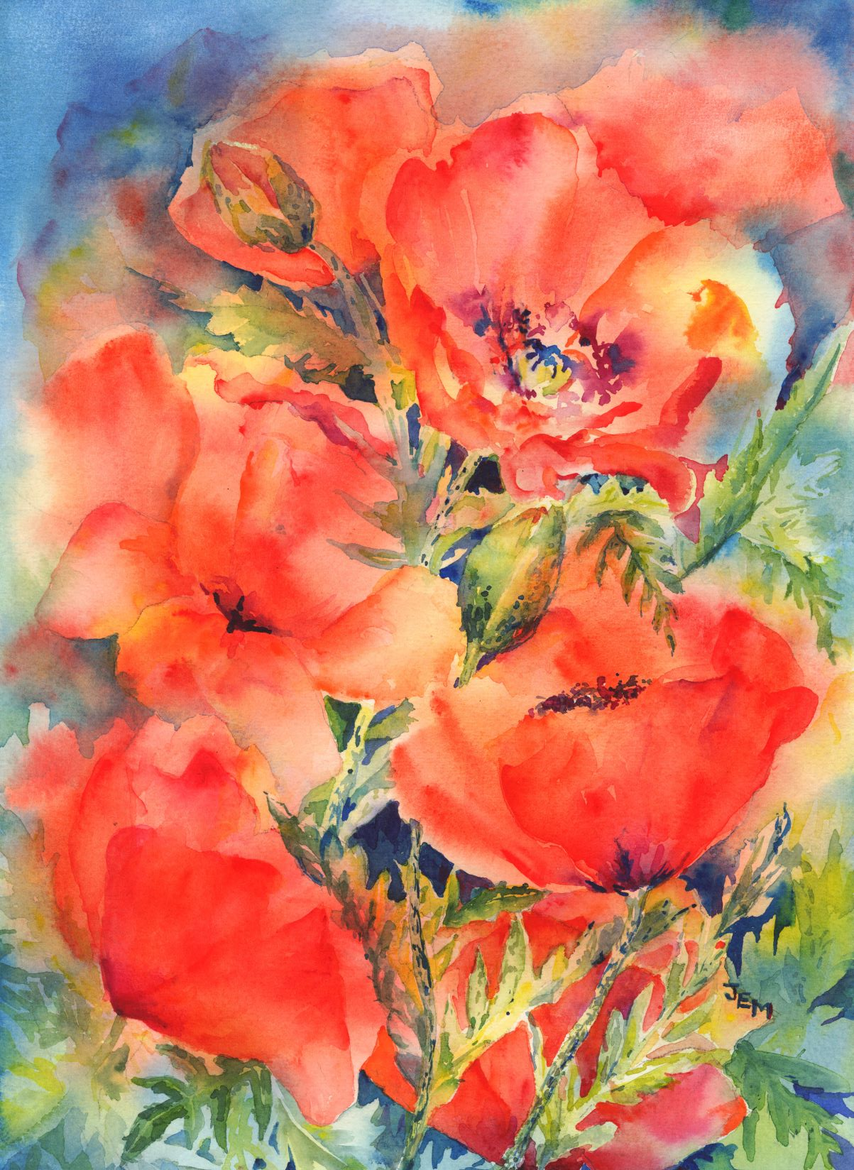Poppies by Joan Easton