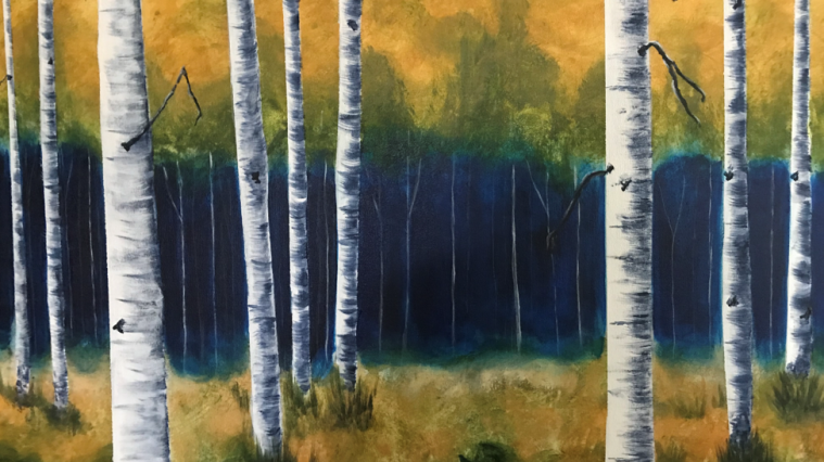 Birch Trees by Lois Kissinger